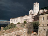 The Basilica of St.Francis in Assisi ,Italy — Stock Photo