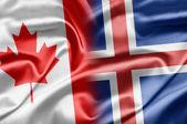 Kanada und island — Stockfoto