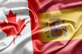 Kanada a španělsko — Stock fotografie