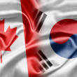 Canada and South Korea — Foto de Stock