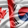 Canada and South Korea — 图库照片