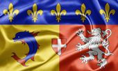 Flag of Rhone-Alpes — Stock Photo
