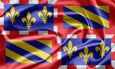 Flag of Burgundy, France — Stock Photo