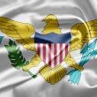 Virgin Islands of the United States Flag — Stock Photo