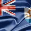 Flag of Anguilla - Lizenzfreies Foto
