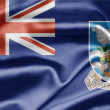 Flag of Falkland Islands - Stock Photo