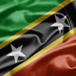 Stock Photo: Federation of Saint Kitts and Nevis Flag
