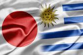 Japan och uruguay — Stockfoto