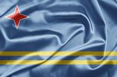Bandeira de aruba — Fotografia Stock