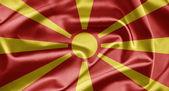 Bandeira da macedónia — Fotografia Stock