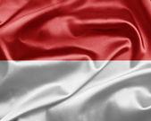 Bandeira do mónaco — Fotografia Stock