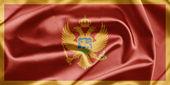 Bandeira de montenegro — Fotografia Stock