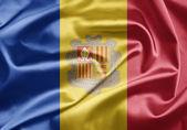 Bandeira de andorra — Fotografia Stock