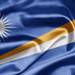 Republic of the Marshall Islands Flag - Stock Photo
