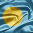 Flag of Palau - Stock Photo