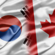 South Korea and Canada — Stock Photo
