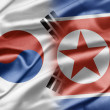 South Korea and North Korea - Stock Photo