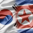 South Korea and North Korea - 图库照片