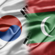 South Korea and Maldives - Stock Photo