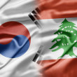 South Korea and Lebanon - Stock Photo
