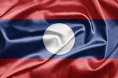 Bandeira do laos — Fotografia Stock