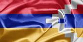 A bandeira nacional de nagorno-karabakh — Fotografia Stock