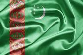 Bandeira do turquemenistão — Fotografia Stock