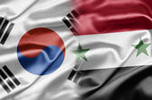South Korea and Syria — Стоковое фото