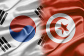 South Korea and Tunisia — Stock Photo