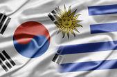 South Korea and Uruguay — Stok fotoğraf