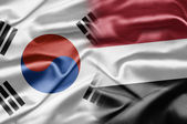 South Korea and Yemen — Foto de Stock