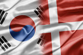 South Korea and Denmark — Stock Photo