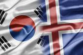 Südkorea und island — Stockfoto