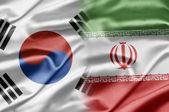 Coreia do sul e irã — Foto Stock