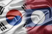 South Korea and Laos — Stock Photo