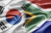 Corea del sud e sud africa — Foto Stock
