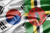 Corea del sur y dominicana — Foto de Stock