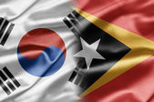 South Korea and East Timor — Stock Photo