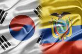 South Korea and Ecuador — Стоковое фото