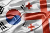 Südkorea und Georgien — Stockfoto