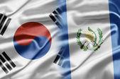 South Korea and Guatemala — Стоковое фото