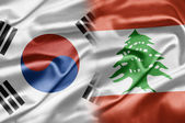 South Korea and Lebanon — Stock Photo