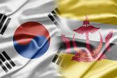 South Korea and Brunei — Stock Photo