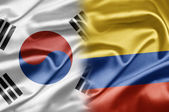 Coreia do sul e columbia — Foto Stock