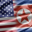 USA and North Korea - Stock Photo