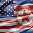 USA and North Korea - Foto de Stock