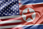 USA and North Korea — 图库照片