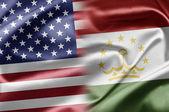 USA and Tajikistan — Stock Photo