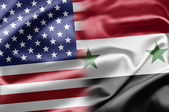USA and Syria — Stock Photo