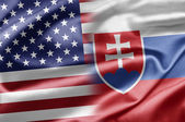 Estados unidos y eslovaquia — Foto de Stock